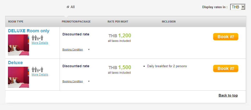 How to use Baiyoke's hotel reservation system : Hotel in